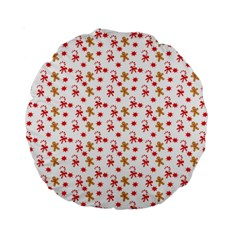 Cake Christmas Gingerbread Man Wallpapers Standard 15  Premium Round Cushions