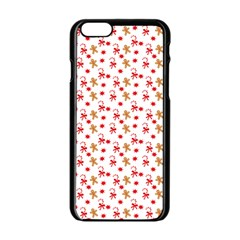 Cake Christmas Gingerbread Man Wallpapers Apple Iphone 6/6s Black Enamel Case