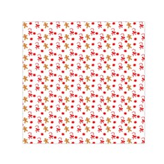 Cake Christmas Gingerbread Man Wallpapers Small Satin Scarf (square)