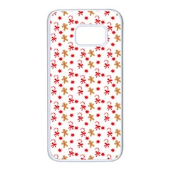 Cake Christmas Gingerbread Man Wallpapers Samsung Galaxy S7 White Seamless Case by Alisyart