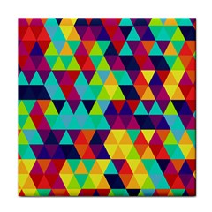 Bright Color Triangles Seamless Abstract Geometric Background Tile Coasters