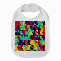 Bright Color Triangles Seamless Abstract Geometric Background Bib