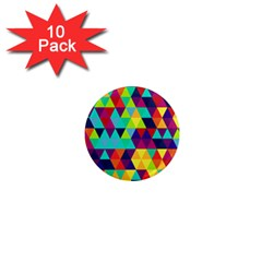Bright Color Triangles Seamless Abstract Geometric Background 1  Mini Magnet (10 Pack)  by Alisyart