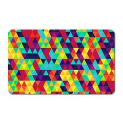 Bright Color Triangles Seamless Abstract Geometric Background Magnet (rectangular)