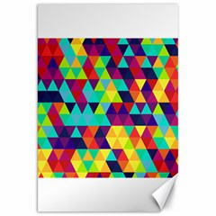 Bright Color Triangles Seamless Abstract Geometric Background Canvas 20  X 30
