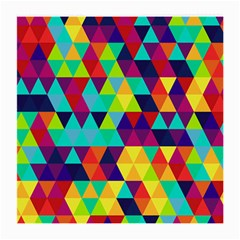 Bright Color Triangles Seamless Abstract Geometric Background Medium Glasses Cloth (2 Side)