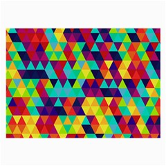 Bright Color Triangles Seamless Abstract Geometric Background Large Glasses Cloth (2 Side) by Alisyart