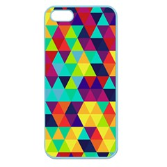 Bright Color Triangles Seamless Abstract Geometric Background Apple Seamless Iphone 5 Case (color) by Alisyart