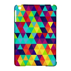 Bright Color Triangles Seamless Abstract Geometric Background Apple Ipad Mini Hardshell Case (compatible With Smart Cover)