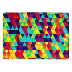 Bright Color Triangles Seamless Abstract Geometric Background Samsung Galaxy Tab 10 1  P7500 Flip Case