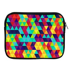Bright Color Triangles Seamless Abstract Geometric Background Apple Ipad 2/3/4 Zipper Cases