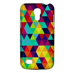 Bright Color Triangles Seamless Abstract Geometric Background Samsung Galaxy S4 Mini (gt I9190) Hardshell Case  by Alisyart