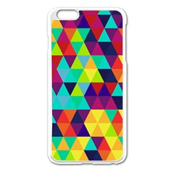 Bright Color Triangles Seamless Abstract Geometric Background Apple Iphone 6 Plus/6s Plus Enamel White Case by Alisyart