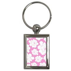 Beauty Flower Floral Pink Key Chains (rectangle)