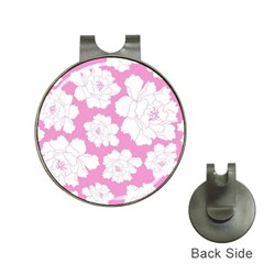 Beauty Flower Floral Pink Hat Clips With Golf Markers