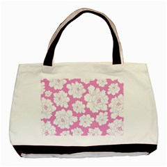 Beauty Flower Floral Pink Basic Tote Bag