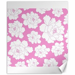 Beauty Flower Floral Pink Canvas 8  X 10