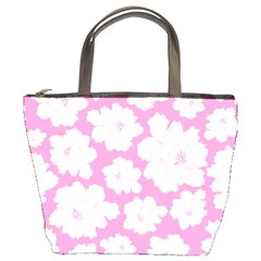 Beauty Flower Floral Pink Bucket Bag