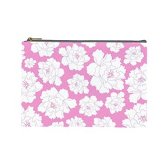 Beauty Flower Floral Pink Cosmetic Bag (large) by Alisyart