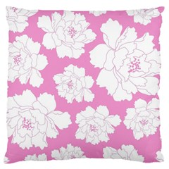 Beauty Flower Floral Pink Large Cushion Case (two Sides) by Alisyart