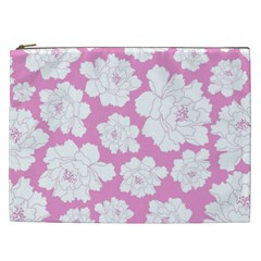 Beauty Flower Floral Pink Cosmetic Bag (xxl)