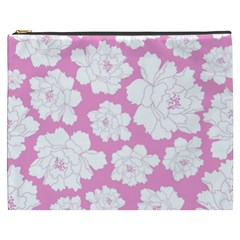 Beauty Flower Floral Pink Cosmetic Bag (xxxl)