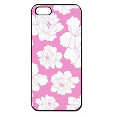Beauty Flower Floral Pink Apple Iphone 5 Seamless Case (black)