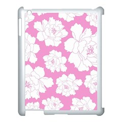 Beauty Flower Floral Pink Apple Ipad 3/4 Case (white)