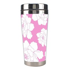 Beauty Flower Floral Pink Stainless Steel Travel Tumblers by Alisyart