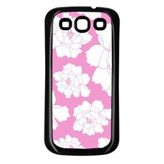 Beauty Flower Floral Pink Samsung Galaxy S3 Back Case (black)