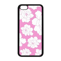 Beauty Flower Floral Pink Apple Iphone 5c Seamless Case (black) by Alisyart
