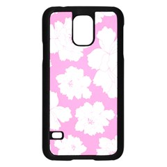 Beauty Flower Floral Pink Samsung Galaxy S5 Case (black) by Alisyart