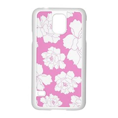 Beauty Flower Floral Pink Samsung Galaxy S5 Case (white)