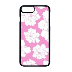Beauty Flower Floral Pink Apple Iphone 7 Plus Seamless Case (black)