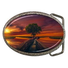 Wonderful Fantasy Sunset Wallpaper Tree Belt Buckles by Alisyart