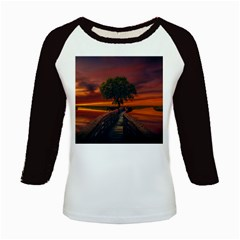 Wonderful Fantasy Sunset Wallpaper Tree Kids Baseball Jerseys by Alisyart