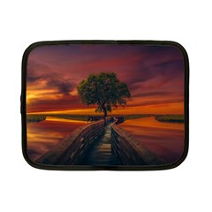 Wonderful Fantasy Sunset Wallpaper Tree Netbook Case (small)