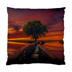 Wonderful Fantasy Sunset Wallpaper Tree Standard Cushion Case (two Sides) by Alisyart