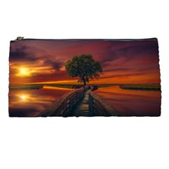 Wonderful Fantasy Sunset Wallpaper Tree Pencil Cases