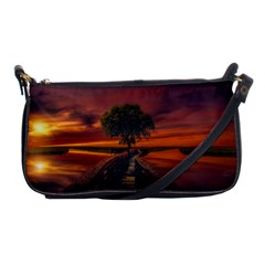 Wonderful Fantasy Sunset Wallpaper Tree Shoulder Clutch Bag