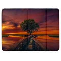 Wonderful Fantasy Sunset Wallpaper Tree Samsung Galaxy Tab 7  P1000 Flip Case