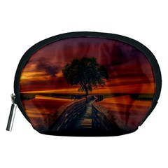 Wonderful Fantasy Sunset Wallpaper Tree Accessory Pouch (medium)