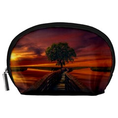 Wonderful Fantasy Sunset Wallpaper Tree Accessory Pouch (large)