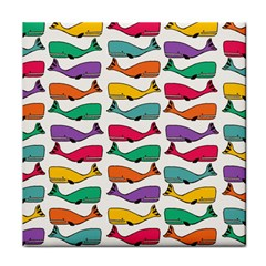 Fish Whale Cute Animals Tile Coasters