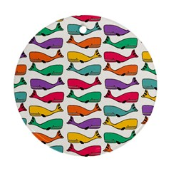 Fish Whale Cute Animals Ornament (round)