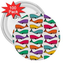 Fish Whale Cute Animals 3  Buttons (100 Pack)