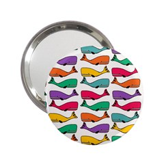 Fish Whale Cute Animals 2 25  Handbag Mirrors by Alisyart