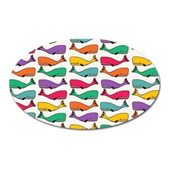 Fish Whale Cute Animals Oval Magnet by Alisyart