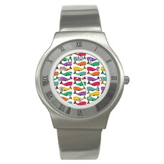 Fish Whale Cute Animals Stainless Steel Watch by Alisyart