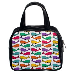 Fish Whale Cute Animals Classic Handbag (two Sides)